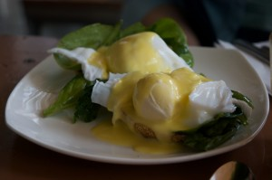 Eggs Florentine - a close relation of Benedict...