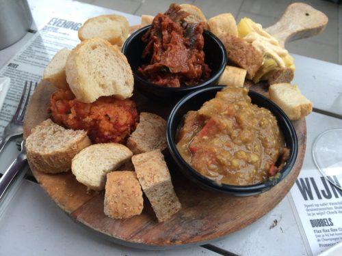 Vege platter at Boca's