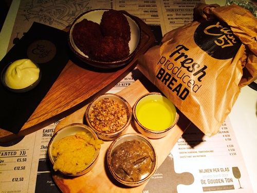 East 57 Amsterdam - bread and dips