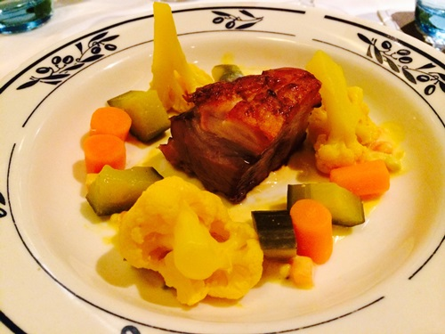 Dwars restaurant Amsterdam - pork belly piccalilli