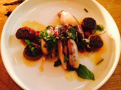 Volt restaurant Amsterdam - squid chorizo