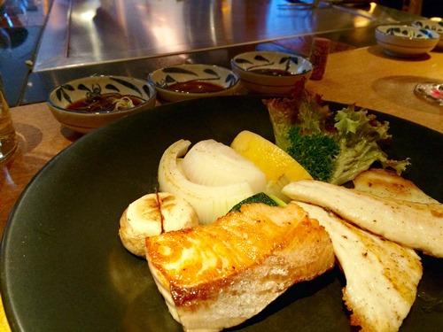 Fish at restaurant Hosokawa