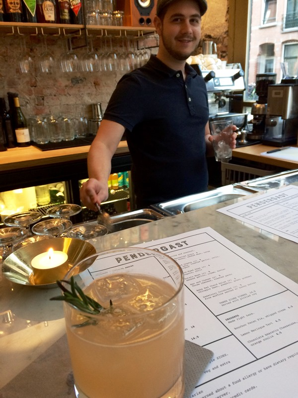 Mr South Carolina mixing it up behind the bar