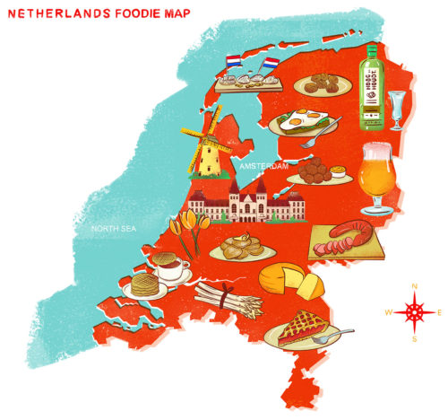 The Netherlands Foodie Map! (Image courtesy of Eating Amsterdam Tours)
