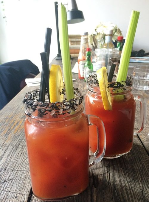 Bloody Marys at Metropolitain: hair of the dog