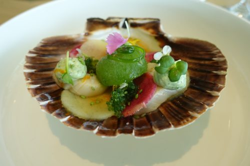 Moon's scallop ceviche was a veritable oil painting