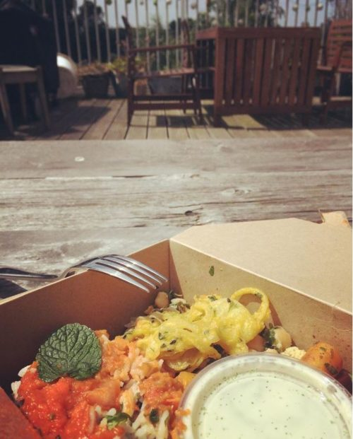Lunch from Cropbox - perfect for a sunny day on the roof!