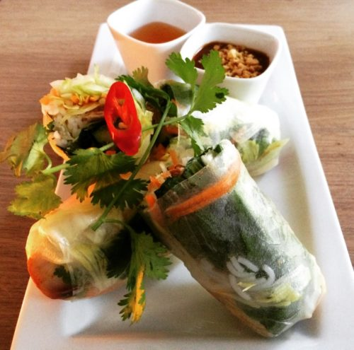 Vietnamese spring rolls at Pho & Yummie in the Spaarndammerbuurt