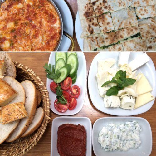 Just part of a full Turkish breakfast at Van Kahvalti Evi