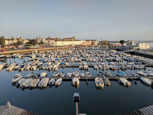 Sunset views over Faro's marina