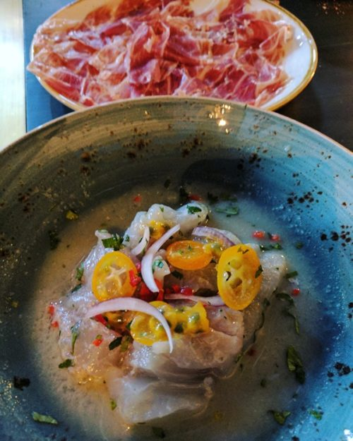 ESCOBAR tapas restaurant - ceviche and jamon