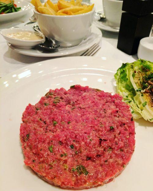 Amsterdam restaurant Le Garage - steak tartare