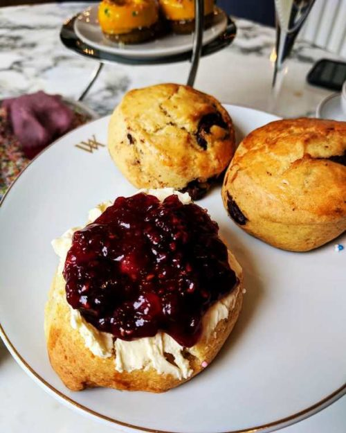 Afternoon tea in Amsterdam - scones with clotted cream and jam