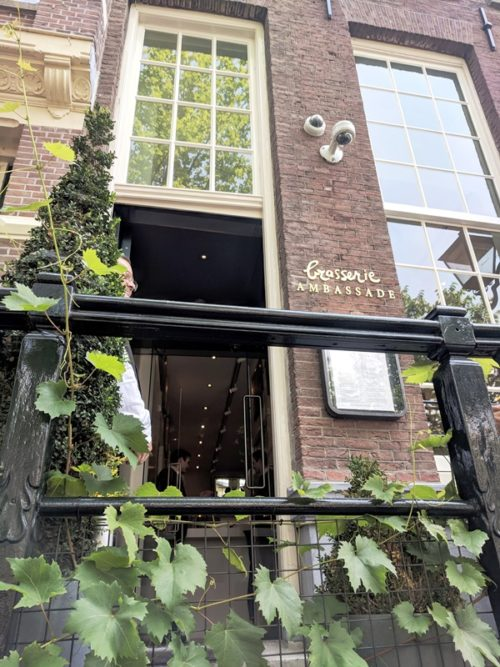 Brasserie Ambassade - lunch in Amsterdam