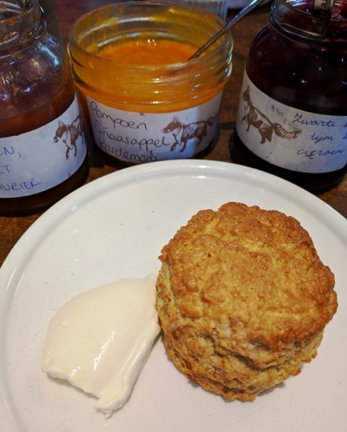 Scones in Amsterdam at The Cottage