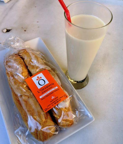Valencia horchata y fartons