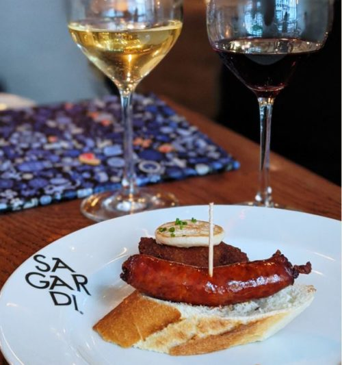 Wine and pintxos at Basque restaurant Sagardi